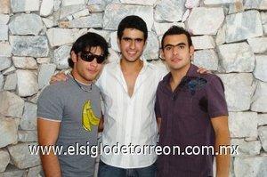 25112007 Los festejados Balbao, Iñaki y Gustavo.