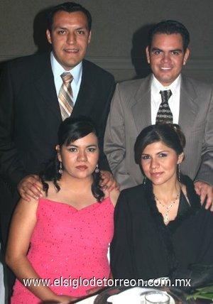 27112007 Luis Ventura, Lety Torres de Ventura, Arturo Torres Názer y Alicia Cárdenas de Torres.