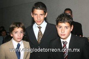27112007 Marcos Muñoz Torres, Daniel Torres López y Adrián Torres Passaret.