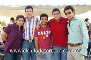 25112007 Claudia Zablah, Jorge Máynez, Aníbal Fajer, David García y Ricardo Seceñas.