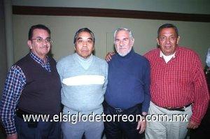 25112007 Jesús Moreno Mejía, Ricardo Tea Wong, Gabino Gracia y Carlos García Carrillo