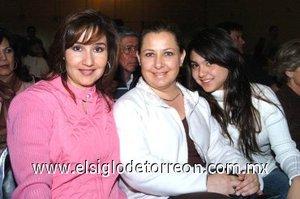 25112007 Mónica Saldaña, Myrna Mafud y Mónica Villar.