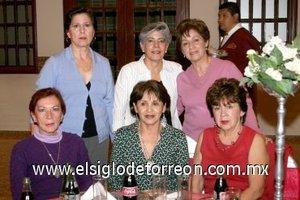29112007 Cristina Porras de Vázquez, Chamis Porras de Gómez, Amparo Porras de Gómez, Silvia de Hermosillo, Laura Landeros y Blanca Villarreal de Gómez.