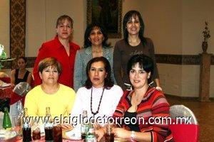 29112007 Silvia de Mendoza, Norma de Rodríguez, Dora Alicia Muñoz de González, Yolanda Villar de Calderón, Laura Ríos de Escobedo y Janny Treviño.