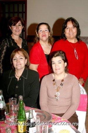29112007 Yolanda Samperio, Claudia Názer, Elvia Gutiérrez, Irma de Leyva y Elvira de Cuéllar.