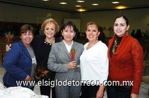 30112007 Jose de Ruiz, Güera Milán, Alma Reyes, Marisa de Zavala y Zambra Zavala.