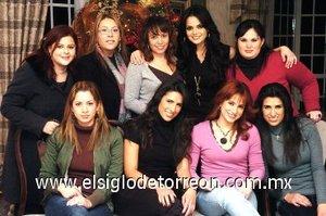 03012008 Mary Tere Jardón, Pily Palacios, Ale Reed, Marisol González, Sofía Jaik, Adriana Hinojosa, Marisol Barajas, Dulce Rivera y Maribel Barajas.