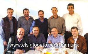 07012008 Gabriel Zarzar, Alfonso Alarcón, Fernando Royo, Jaime Murra, Alberto Salas, Héctor Guerrero, Juan Barrio, Felipe Cedillo y Fernando Campos.