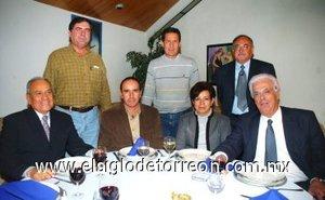 15012008 Alfonso Soto Corral, Federico Martínez, Ana Laura Burciaga, Roberto Tueme, Alberto Allegre, Ernesto Gómez Escalera y Donato Gutiérrez.