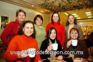 16012008 Paty Gaucín, Rosina de Baranda, Mónica Montes, Magdalena Siller, Mary Esparza, Lety Liu y Ana Lucía Leal.
