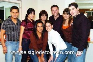 27012008 Arturo Ayala, Nadia Calderón, Laura Abraham, Óscar Navarrete, Valeria Abraham, Iñaki Amatria, Karina Issa y Roberto Siller.