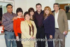 27012008 Jesús Abraham, Laura García, Esperanza Garay, Valeria Abraham, Iñaki Amatria, Maru Herrera y Jesús Quiroz.