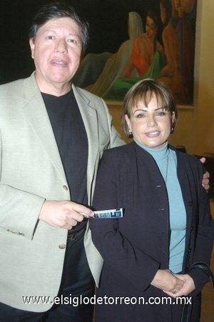 13032008 Javier Armendáriz y Laura de Armendáriz.