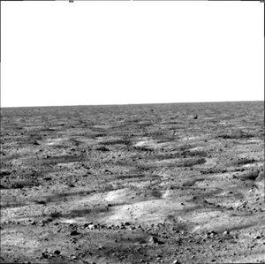 Las imágenes que envió la sonda mostraron una parte del valle en se efectuó el aterrizaje, donde se espera que haya una capa de permafrost rica en agua.