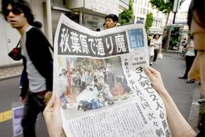 Tomohiro Kato estrelló una camioneta alquilada contra un grupo de transeúntes y luego saltó de ella, con un puñal, para acuchillar a 17 personas.