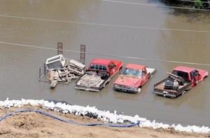 La crecida del cauce del río Mississippi  inundó y devastó el Sureste de Iowa, EU.
