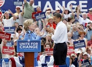 La comparecencia se realizó en una población con el sugestivo nombre de Unity (Unidad), Nueva Hampshire, y tuvo como objetivo presentar un nuevo frente unido del Partido Demócrata con vistas a los comicios generales.