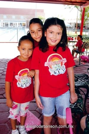 Natalia Alcorta, Bárbara del Río y Bárbara Chaul.