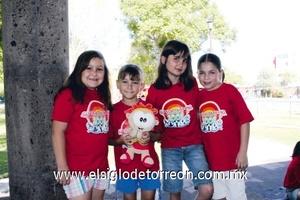 Ángela Estrella, Karla Neufeld, Susana Díaz de León y Regina Russek.