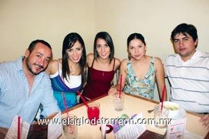 Agustín Isunza, Susana Romero, Esther Domínguez, Mariel Gutiérrez y Roberto Cepeda.