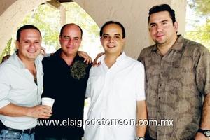 Queco Aguiñaga, Fredy Villarral, Alejandro Saldaña y Daniel Rodríguez.