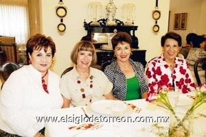 Maga Obeso, Lucy Calvillo, Gaby Acosta y Licha Mina.