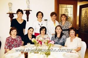 María Angélica Leal, Morena de Martínez, Tere de Herrera, Lupita Barrios, Ana Tere de García, Ana María de de la Mora, Alicia de Hernández, Beatriz de Gómez y Lupita de Rosas.