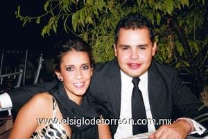 <b>Brindan por ellos</b><p> Perla Iracheta y Octavio Barraza.