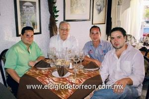 René Rimada, Ignacio Pámanes, Rubén Pérez y Mario Majares.