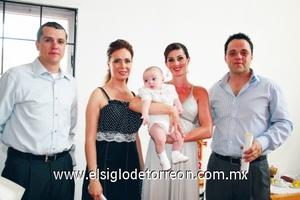 Daniel González García, Cynthia A. de Pámanes, Luciano Pámanes, Juliana Teixeira de González y Marco Antonio Pámanes Fernández.