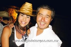 <b>Festejo Norteño</b><p> Gaby Barrón de Moreno y Víctor Moreno.