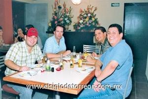 <b>Lamballe Restaurante</b><p> Mario Cruz, Alejandro Córdoba, Ricardo Barriada y Fernando Odriozola.