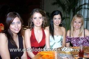 01082008 Karla Cadena, Valeria Serrano, Lorena Sáenz y Alina Amezcua