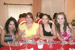 02082008 Elsa Martínez, Abigaíl Moreno, Carmen Borrego y Monserrat Reyes