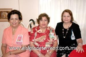 02082008 Mercedes Elizondo, María Rosa Rodríguez Lozano y Delia Rodiles Mercado