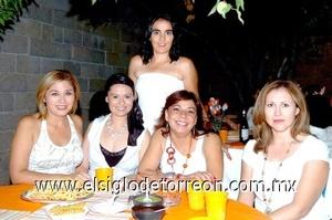 02082008 Mónica Diez Bracho festejó su cumpleaños con sus amigas Elena Rodríguez, Marcela Treviño, Belinda Castillo y Cynthia Nájera