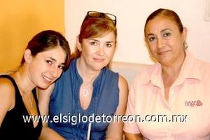 03082008 Ale Jaime, Cristina Díaz Coudez y Rosy Jaime