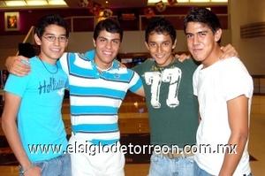 03082008 José Luis Verdeja, Alejandro Lome, Enrique Robledo y Cristian Bernal