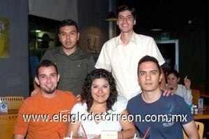 03082008 Raúl Rodríguez, Monste Chavarría, Spayros Zapata, Armando Vargas e Israel Ayala.
