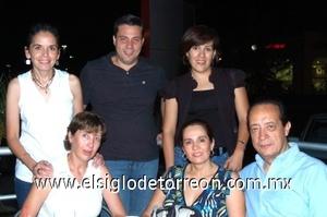 04082008 Claudia Torres, Julio Luna, Alejandro Viesca, Gaby Duarte, Ana Tere Saldaña y Pecky Webb.