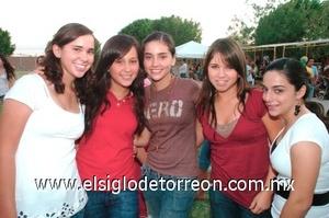 05082008 Natalia Nahle, Sandra Tumoine, Marifer Amescua, Paty Torres y Magda Mayagoitia.