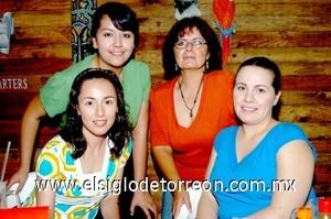07082008 Laura, Angélica, Mary Tere y Amanda Mesta