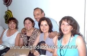 07082008 Lidia Juárez, Laura Aguilera, Nora Nevárez, Manacia Ruiz y Óscar Rodríguez