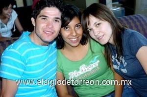 07082008 Óscar Martínez, Ilse Medina y Ariel Sandoval