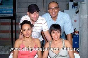09082008 René Chávez, Guillermo Cabelaris, Anel Rangel y Jazmín Jáuregui.