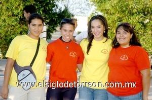 10082008 Adriana Adame, Leticia Thompson, Rosy Michel y Susana Álvarez.