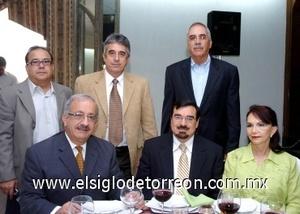 10082008 Alejandro Gidi, Mario Domínguez, Jesús del Río, Tiburcio Vega, Eduardo Iduñate y Frida de Iduñate