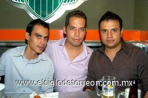 10082008 Alejandro Zúñiga, Luis Daniel Sotelo y Jorge Pacheco.