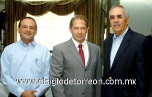 10082008 Armando Pérez, Alfredo Mafud y Jesús del Río.