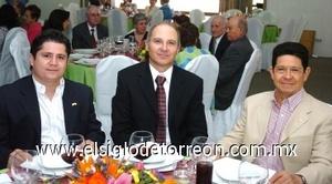 10082008 Carlos Caballero, Gabriel de la Garza y Andrés Caballero.